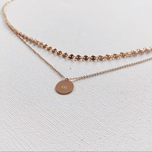 Jewelry - 14k Gold Filled Disc Choker Dainty Necklace
